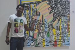Boris Nzebo, Peinture
